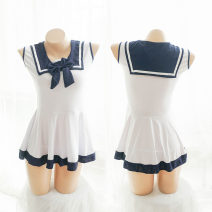 Pajamas / housewear set female Other / other Average size Blue and white Polyester (polyester)