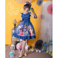Lolita / soft girl / dress Magic tea party Black spot, red spot, blue spot S,M,L,XL No season Lolita