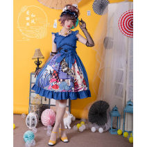 Lolita / soft girl / dress Magic tea party Black spot, red spot, blue spot S,M,L,XL No season Lolita