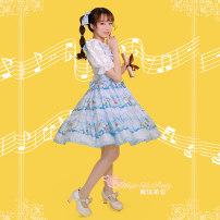 Lolita / soft girl / dress Magic tea party Light yellow, light pink, light blue S,M,L,XL No season Lolita