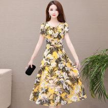 Dress Spring 2021 Yellow, blue green, white sling M,L,XL,2XL,3XL