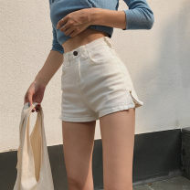Jeans Summer 2020 S,M,L shorts High waist Wide legged trousers routine 18-24 years old Whitening light colour C627