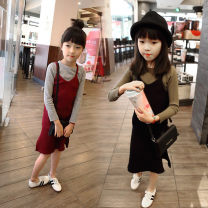 Dress Black, jujube female Other / other 7(90cm),9(100cm),11(110cm),13(120cm),15(130cm) Other 100% spring and autumn leisure time other other 2 years old, 3 years old, 4 years old, 5 years old, 6 years old