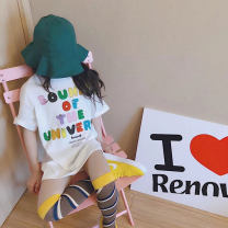 T-shirt Graph color Other / other 7(90cm),9(100cm),11(110cm),13(120cm),15(130cm) female summer Short sleeve Korean version nothing other other 2 years old, 3 years old, 4 years old, 5 years old, 6 years old