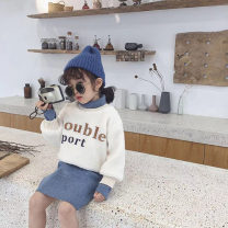 suit Other / other Graph color 7(90cm),9(100cm),11(110cm),13(120cm),15(130cm) female winter Korean version Long sleeve + skirt 2 pieces Socket nothing other children Expression of love 2 years old, 3 years old, 4 years old, 5 years old, 6 years old