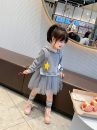 Dress grey female Other / other 7(90cm),9(100cm),11(110cm),13(120cm),15(130cm) Other 100% spring and autumn Korean version Long sleeves other other other 2 years old, 3 years old, 4 years old, 5 years old, 6 years old