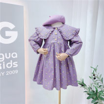 Dress violet female Other / other 7(90cm),9(100cm),11(110cm),13(120cm),15(130cm) Other 100% spring and autumn princess Long sleeves other other 2 years old, 3 years old, 4 years old, 5 years old, 6 years old