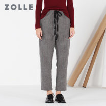 Casual pants S M L XL Winter 2017 trousers Straight pants Natural waist commute thickening 35-39 years old ZOLLE Simplicity pocket Same model in shopping mall (sold online and offline)