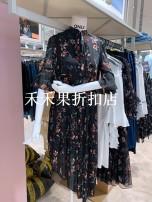 Dress Spring 2020 H5z, H15 black flower XS,S,M,L,XL