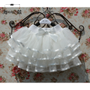 skirt Haizi female Cotton 10% others 90% winter skirt princess Solid color Cake skirt Cotton polyester Class A Summer of 2019