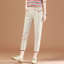 Casual pants khaki 1/XS,2/S,3/M,4/L,5/XL,6/2XL Summer 2021 Cropped Trousers Haren pants High waist Versatile Thin money 81% (inclusive) - 90% (inclusive) five million one hundred thousand two hundred and fifty-two - one million twenty-six thousand two hundred and fifty-nine - 001 Brother amashsin
