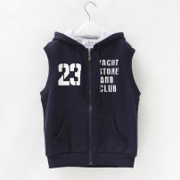Vest male Blue - cotton lining, black Navy - cotton lining 140cm,150cm,160cm,170cm Other / other spring and autumn routine There are models in the real shooting zipper leisure time blending other other 9, 10, 11, 12, 13