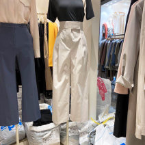 Casual pants Beige S,M,L,XL Spring 2021 trousers Straight pants High waist commute routine 18-24 years old 31% (inclusive) - 50% (inclusive) Korean version