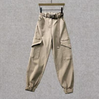 Casual pants Black, Khaki S,M,L,XL Spring 2021 trousers High waist commute routine 18-24 years old 31% (inclusive) - 50% (inclusive) Korean version