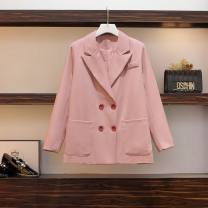Women's large Summer 2021 One piece pink suit coat L [100-120 Jin], XL [120-140 Jin], XXL [140-160 Jin], XXXL [160-175 Jin], XXXXL [175-200 Jin] Other oversize styles
