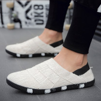 canvas shoe 44, 43, 42, 41, 40, 39, standard Sneaker Size, foot fat, foot wide beat size 1 No lacing Low Gang Other / other Black, beige, light blue Flat heel spring and autumn Retro cloth rubber ventilation Solid color Machine injection shoes Middle aged (40-60 years old), young (18-40 years old)