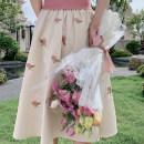 skirt Summer 2020 XS,S,M,L Yellow rose skirt (summer), pink rose skirt (summer), yellow rose skirt (summer), pink rose skirt (summer) 19D624X MR water