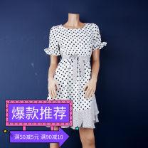 Dress Summer of 2018 White, black M,L,XL Sweet OW058