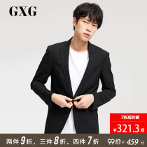 man 's suit Business gentleman black GXG routine S M L XL 2XL 3XL Wool 48.1% polyester 47.1% polyurethane elastic fiber (spandex) 4.8% Self cultivation