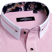 shirt Fashion City Lorsra / Rosa 38 39 40 41 42 43 44 routine Button collar Long sleeves Self cultivation daily spring youth Polyester 55% cotton 45% Business Casual 2017 stripe Spring 2017 Embroidery cotton Button decoration Pure e-commerce (online only) 30% (inclusive) - 49% (inclusive)