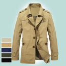 Jacket Jeep shield Fashion City Black, dark blue, army green, light Khaki / light yellow, deep Khaki / khaki XL,L,M,4XL,5XL,XXL,XXXL routine standard go to work spring HX5793 Long sleeves Wear out tailored collar Business Formal  youth Medium length Single breasted 2021 other washing Solid color