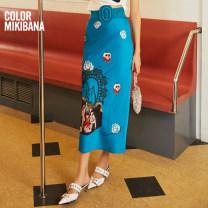 skirt Summer 2020 S M L XL longuette commute Natural waist A-line skirt Decor Type A 30-34 years old 91% (inclusive) - 95% (inclusive) other MIKIBANA polyester fiber printing Korean version Polyester fiber 95.4% polyurethane elastic fiber (spandex) 4.6%