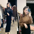 Professional dress suit M,L,XL Coffee flared sleeve top + black velvet skirt, black flared sleeve top + black velvet skirt Summer 2021 Long sleeves Other styles other 25-35 years old 31% (inclusive) - 50% (inclusive) polyester fiber