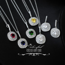 Necklace Synthetic cubic zirconia / water drill 51-100 yuan Colorful time brand new Japan and South Korea female goods in stock no Fresh out of the oven 21cm (inclusive) - 50cm (inclusive) no Below 10 cm Alloy inlaid artificial gem / semi gem alloy Plants and flowers other