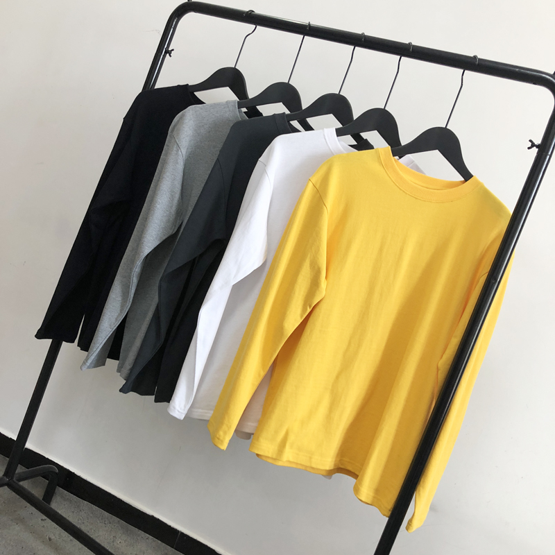 T-shirt Youth fashion White black yellow light grey dark grey routine M L XL 2XL BeeDee Short sleeve Crew neck easy Other leisure autumn teenagers routine Japanese Retro Cotton wool 2018 Solid color cotton Sanding Fashion brand 80% (inclusive) - 89% (inclusive)