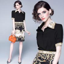 Fashion suit Summer of 2019 M. L, XL, XXL, 2XL weight 0.kg black polyester fiber