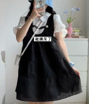 Fashion suit Spring 2021 XS,S,M,L Black and white suit, baby collar shirt, dress