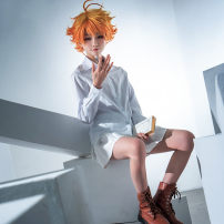 Cosplay women's wear suit goods in stock Over 14 years old Emma (shirt + skirt), Norman (shirt + pants), ray (shirt + pants) comic 50. M, s, XL, customized Huanhuan animation Japan Lovely wind, Yu Jie fan, campus wind The promised Neverland Huanhuan animation