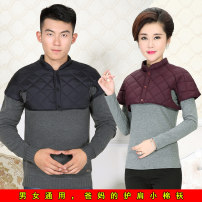 Middle aged and old women's wear Winter of 2019, autumn of 2019 Purple, men's navy, red, black Navy, rose red 2XL [recommended 145-165 kg], XL [recommended 125-145 kg], l [recommended 105-125 kg], m [recommended 90-105 kg] leisure time Vest Straight cylinder singleton  Solid color 40-49 years old