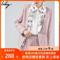 suit Spring 2020 123 coral powder 155/80A/S 170/92A/XL 165/88A/L 160/84A/M 150/76A/XS Long sleeves routine Self cultivation Green fruit collar Single breasted commute routine Plants and flowers 120119C2923 25-29 years old 96% and above polyester fiber Lily / Lily Button print Polyester 100%