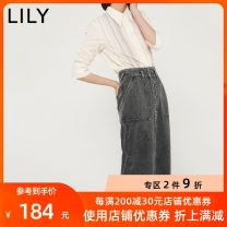 skirt Summer 2020 165/70A/L 160/66A/M 150/58A/XS 155/62A/S 170/74A/XL 505 light grey Mid length dress commute High waist Denim skirt Solid color Type O 25-29 years old 120200G6204505 81% (inclusive) - 90% (inclusive) other Lily / Lily cotton Button Ol style Cotton 88.2% rayon 11.8%