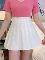 skirt Spring 2021 S,M,L,XL White, black, grey Short skirt Versatile High waist Pleated skirt Solid color Type A 18-24 years old 81% (inclusive) - 90% (inclusive) Wool wool fold 401g / m ^ 2 (inclusive) - 500g / m ^ 2 (inclusive)