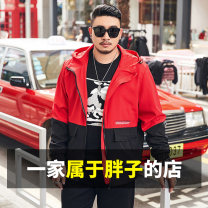 Jacket Other / other Fashion City Khaki, red routine easy Other leisure spring New polyester fiber 100% Long sleeves Wear out Hood American leisure Large size routine Zipper placket 2019 No iron treatment Regular sleeve Chemical fiber blend Color matching