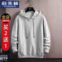 Sweater Youth fashion Yu Zhaolin 4XL 5XL M L XL 2XL 3XL Solid color Socket routine Hood spring Straight cylinder leisure time teenagers tide routine Cotton 100% cotton No iron treatment Spring 2021 More than 95% Kangaroo pocket Pure e-commerce (online only) Japanese and Korean style