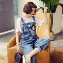 Jeans Spring 2021 blue S,M,L Ninth pants High waist Wide legged trousers routine 25-29 years old washing other light colour CNXZ0228B08 81% (inclusive) - 90% (inclusive)