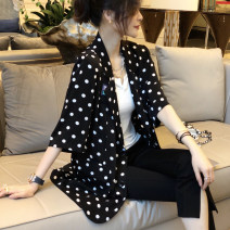 suit Spring 2021 White, black S,M,L Long sleeves routine easy tailored collar Single breasted street routine Dot WYWT0331B04 25-29 years old 81% (inclusive) - 90% (inclusive) other Stitching, printing