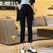 Casual pants black S,M,L Spring 2021 Ninth pants Flared trousers High waist street Thin money 25-29 years old 91% (inclusive) - 95% (inclusive) WYXZ0331B03 other pocket Europe and America