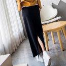 skirt Winter 2017 S M L XL longuette Versatile Natural waist Pencil skirt Solid color Type H 18-24 years old 91% (inclusive) - 95% (inclusive) Fish surplus cotton Cotton 95% polyurethane elastic fiber (spandex) 5%