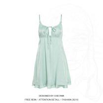 Dress Summer 2021 green S,M,L Short skirt singleton  street High waist Solid color Socket Ruffle Skirt Other / other K21D00431