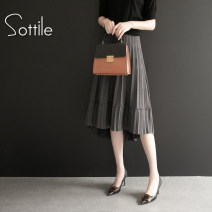 skirt Autumn of 2019 Average size longuette commute High waist Pleated skirt Solid color Type A 25-29 years old 81% (inclusive) - 90% (inclusive) other Sottle / sotile Viscose Korean version Pure e-commerce (online only) 81g / m ^ 2 (including) - 100g / m ^ 2 (including)