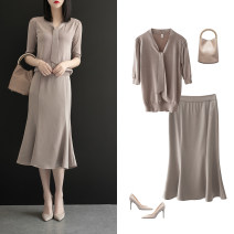 Fashion suit Summer 2020 S M L XL XXL Light coffee top and milk tea bottom suit 25-35 years old Sottle / sotile SOT138930 31% (inclusive) - 50% (inclusive) Viscose Viscose (viscose) 32% polyester 28% Lyocell 25% new polyester 15% Pure e-commerce (online only)
