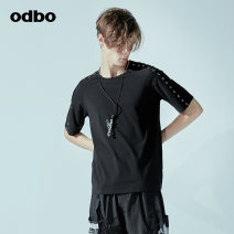 T-shirt Fashion City black routine XXL S M L XL Odbo / odibio Short sleeve Crew neck Self cultivation daily autumn M18310080D Modal fiber (modal) 47.7% cotton 46.4% polyurethane elastic fiber (spandex) 5.9% tide Autumn of 2018 Designer brand Same model in shopping mall (sold online and offline)