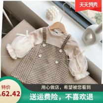 Dress Priority is given to coffee color collection and green collection female Other / other The recommended height is 85-95cm for 90, 95-105cm for 100, 105-115cm for 110, 115-125cm for 120 and 30-138cm for 130 Other 100% lattice F91FF06 3 months