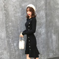 Dress Autumn of 2018 black Average size Other / other