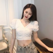 shirt White, black Average size Summer of 2019 cotton 96% and above 18-24 years old Other / other