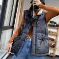 Vest Winter 2020 Black, coffee, Micah M, L routine stand collar commute Solid color Single breasted ZQ2085 Hanging neck style 96% and above other pocket